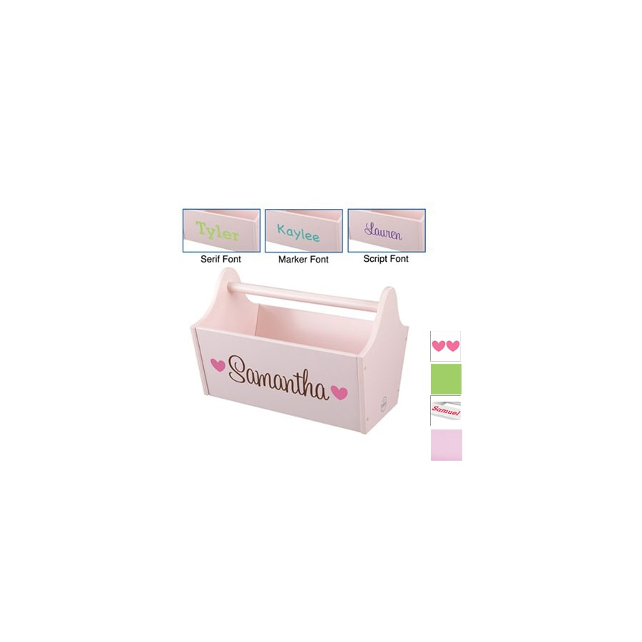 KidKraft 13-in W x 9-in H Pink Composite Wood Basket