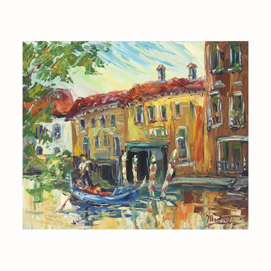 Cascadia 24-in W x 20-in H Frameless Canvas Venice Canal 2 Print Wall Art