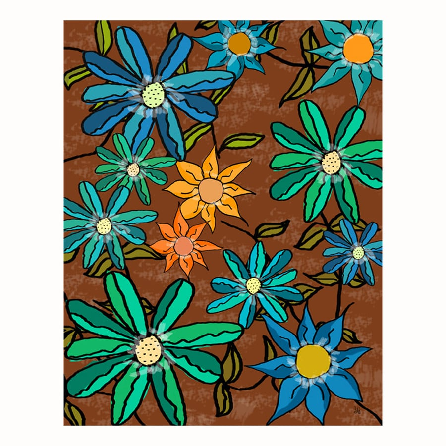Cascadia 11-in W x 14-in H Frameless Canvas Floral Arrangement 2 Print Wall Art