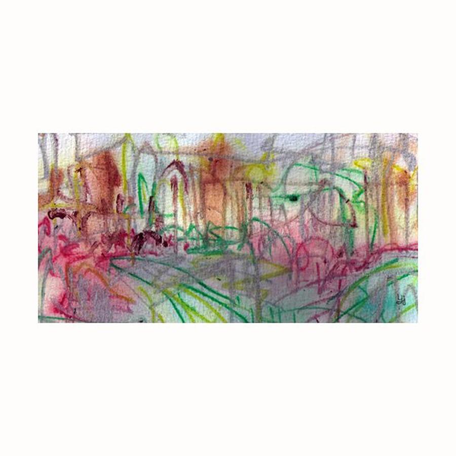 Cascadia 40-in W x 20-in H Frameless Canvas Lines Landscape 1 Print Wall Art