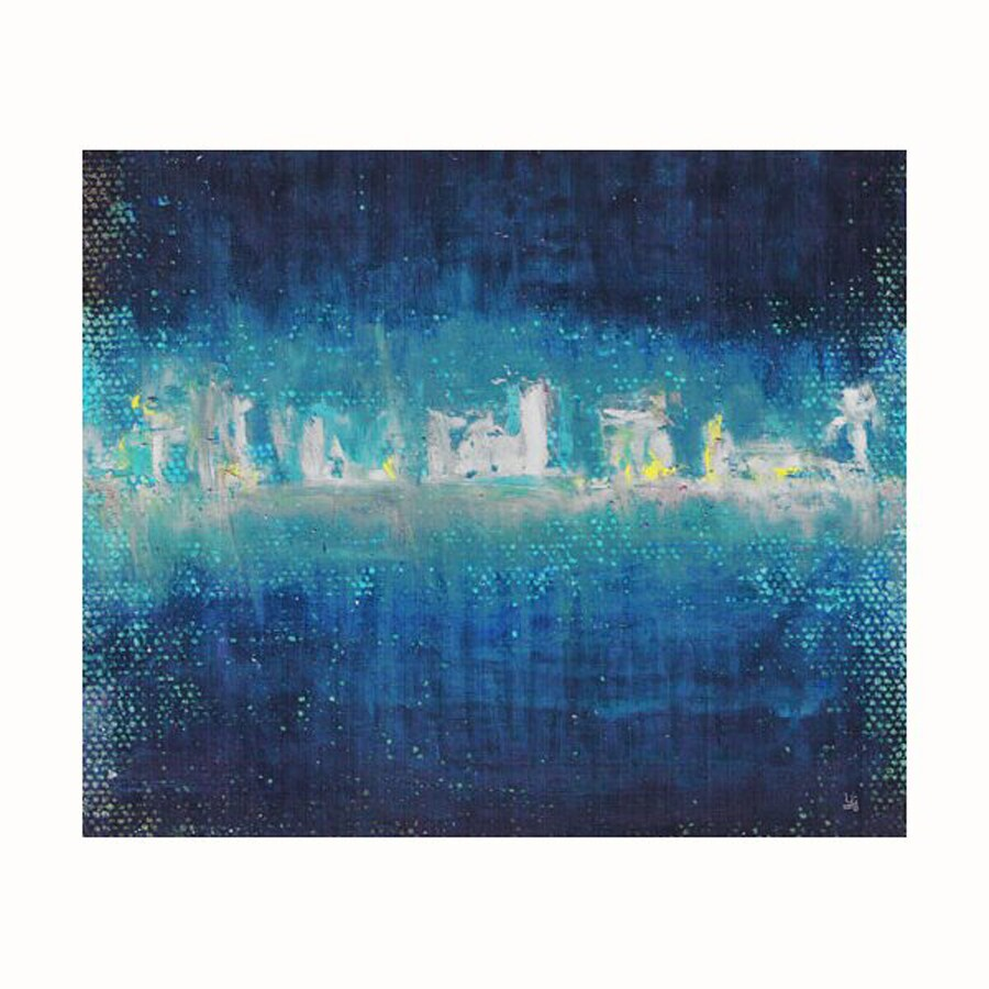 Cascadia 36-in W x 30-in H Frameless Canvas Blue Night Print Wall Art