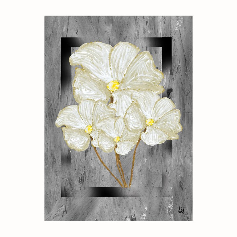 Cascadia 22-in W x 28-in H Frameless Canvas Magnolias On Frame Print Wall Art