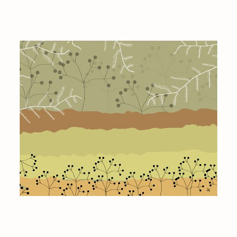 Cascadia 14-in W x 11-in H Frameless Canvas Abstract Forest 2 Print Wall Art