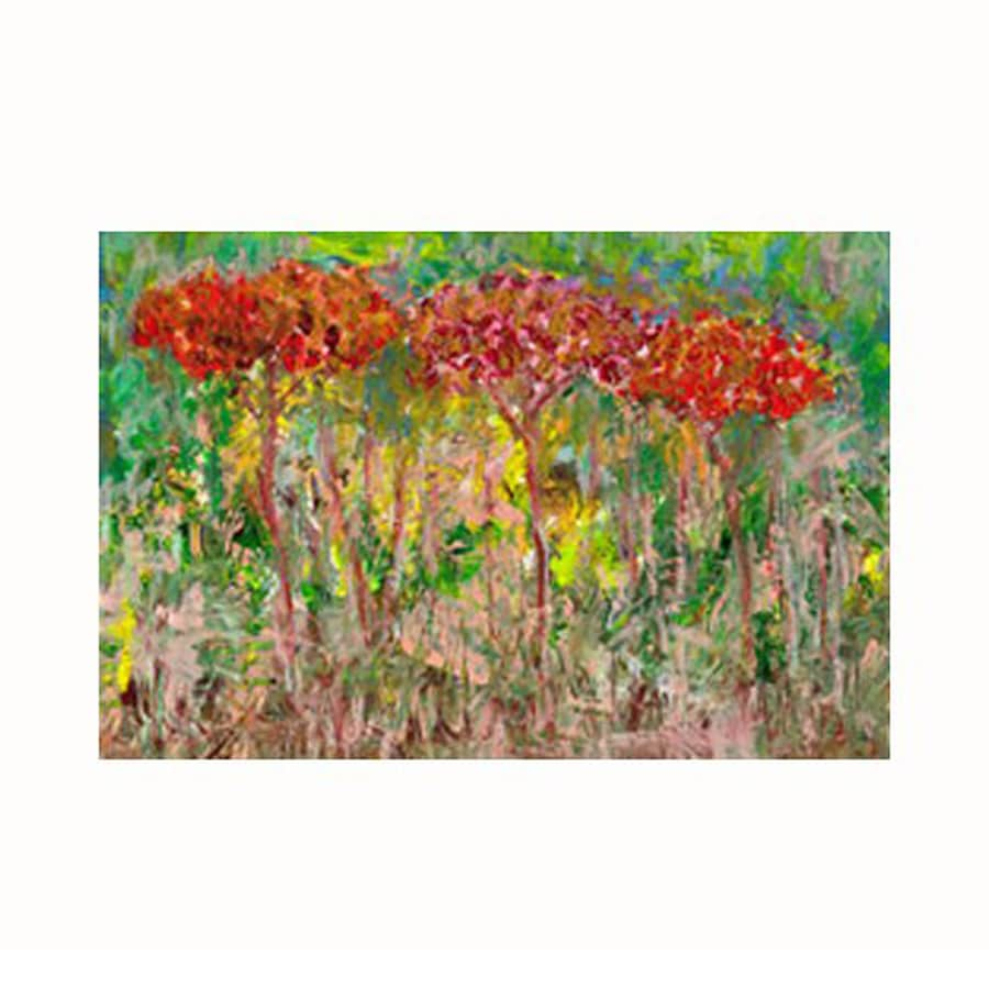 Cascadia 36-in W x 24-in H Frameless Canvas Red Trees Print Wall Art