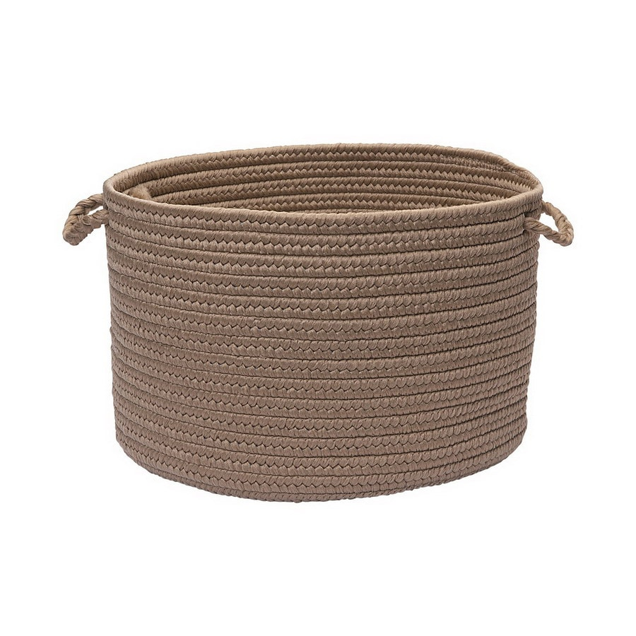 Colonial Mills 18-in W x 12-in H Natural Plastic Basket