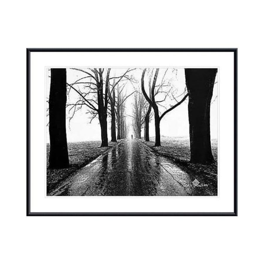 Printfinders 38.3-in W x 30.3-in H Framed Paper Jogger, Westport, Connecticut Print Wall Art