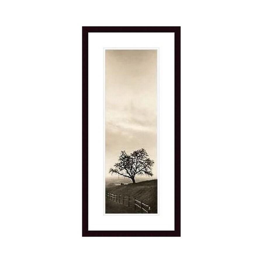 Printfinders 14.8-in W x 28.3-in H Framed Paper Sentinel Oak Print Wall Art