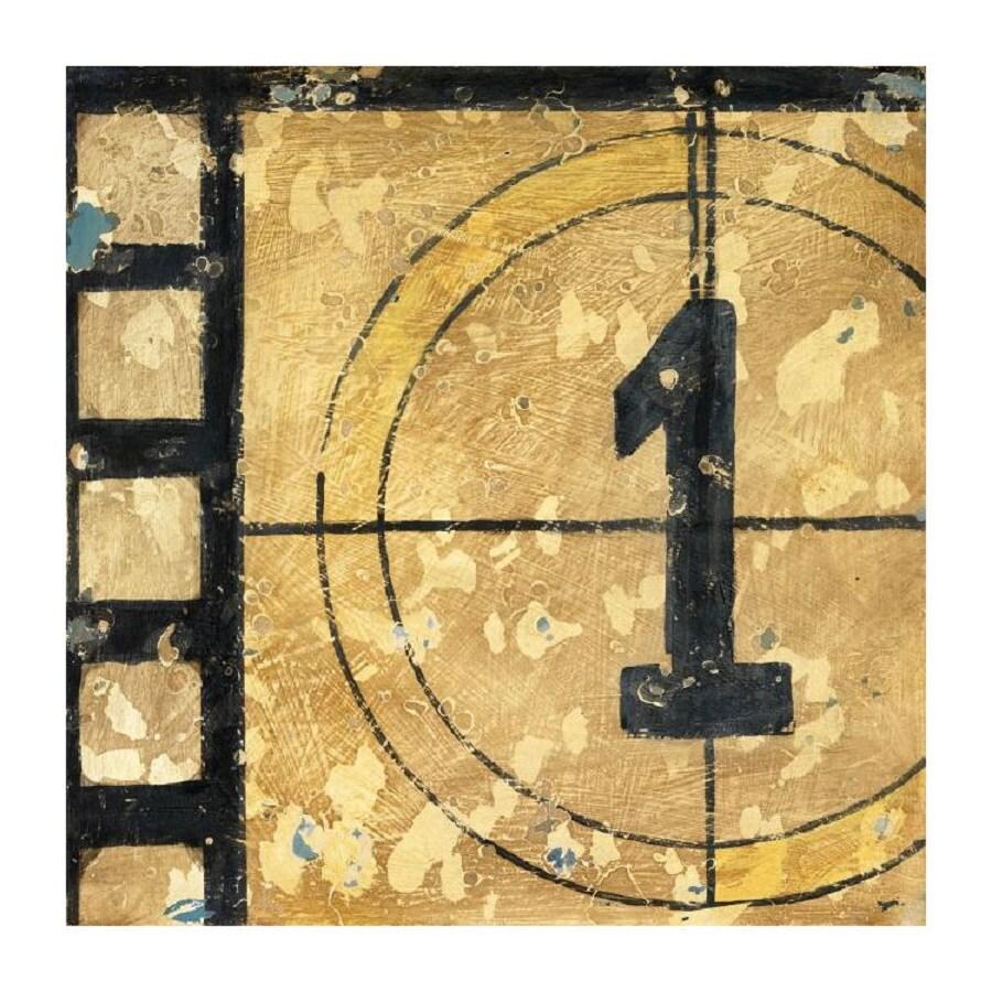 Printfinders 30-in W x 30-in H Framed Canvas Countdown Print Wall Art
