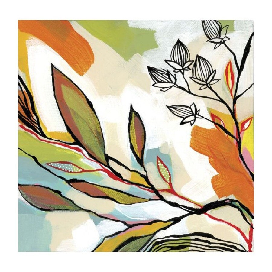 Printfinders 30-in W x 30-in H Framed Canvas Blossoms Print Wall Art