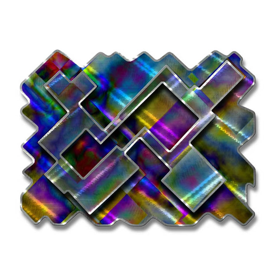 All My Walls 30.5-in W x 23-in H Frameless Metal Abstract Sculpture Wall Art