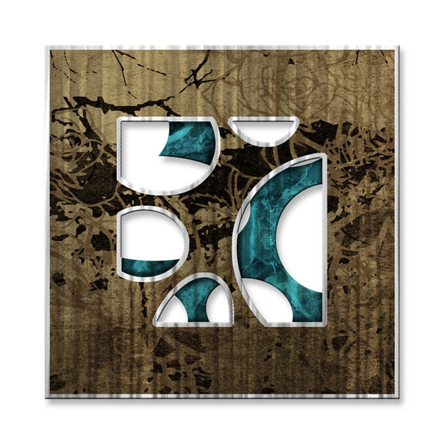 All My Walls 12-in W x 12-in H Frameless Metal Abstract Sculpture Wall Art