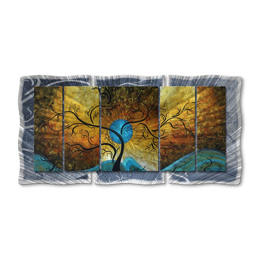 All My Walls 61-in W x 30-in H Frameless Metal Abstract Sculpture Wall Art