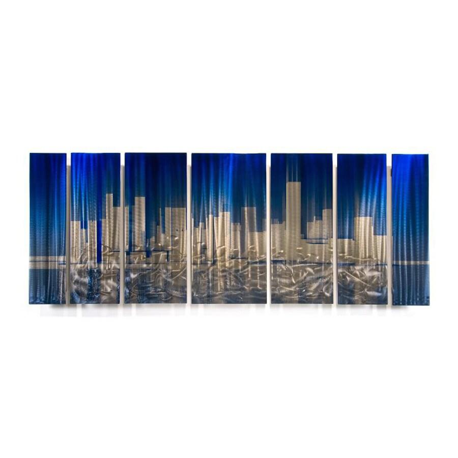 All My Walls 60-in W x 23.5-in H Frameless Metal Cityscape Wall Art