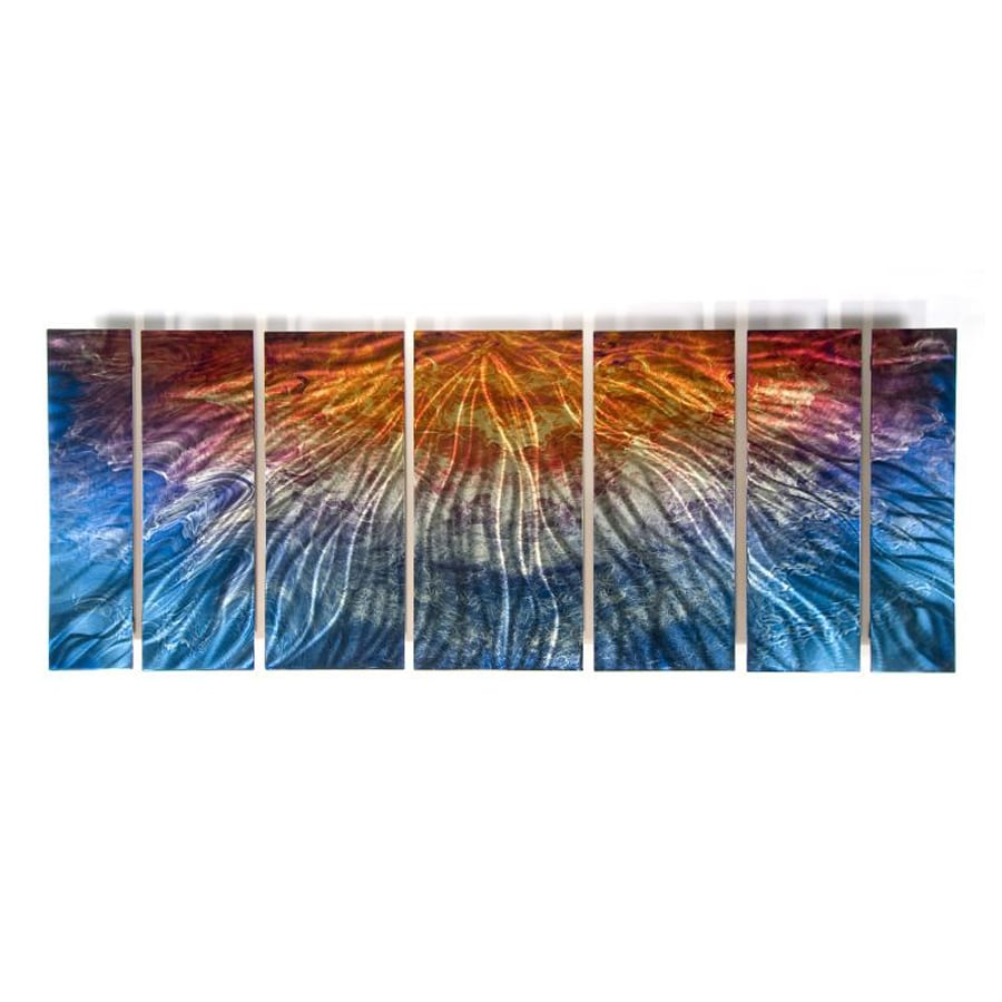 All My Walls 60-in W x 23.5-in H Frameless Metal Abstract Sculpture Wall Art