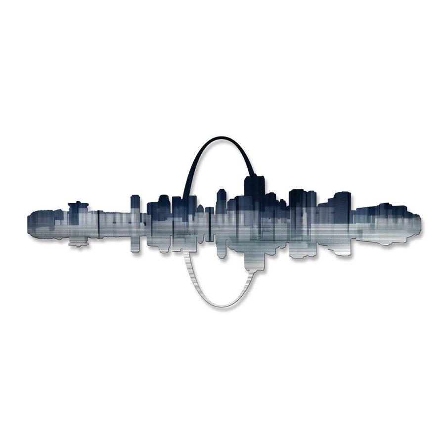 All My Walls 35-in W x 15.5-in H Frameless Metal Cityscape Wall Art