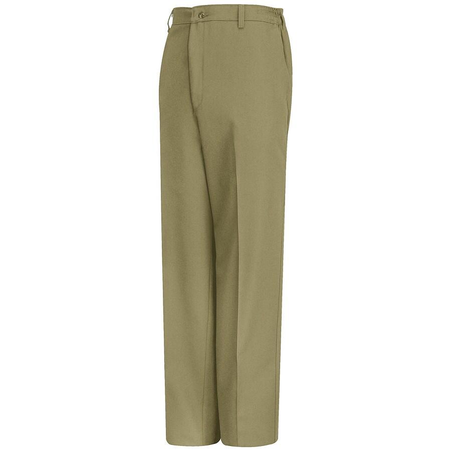 Red Kap Men's 46 x 34 Khaki Twill Work Pants