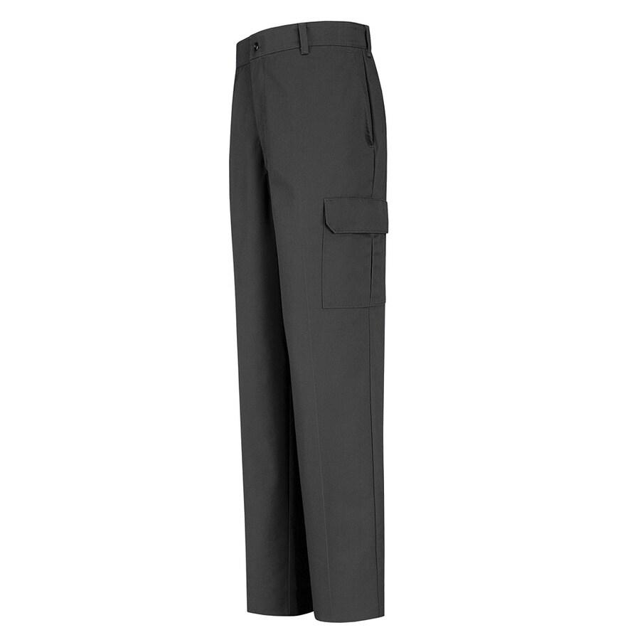 Red Kap Men's 34 x 30 Charcoal Twill Cargo Work Pants