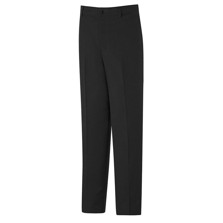 Red Kap Men's 52 x 32 Black Twill Work Pants