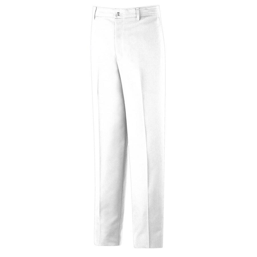 Red Kap Men's 28 x 34 White Twill Work Pants