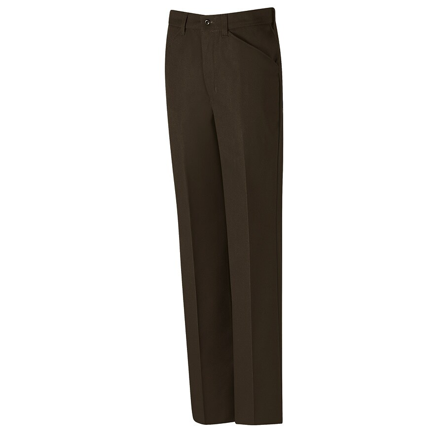 Red Kap Men's 28 x 32 Chocolate Brown Twill Work Pants