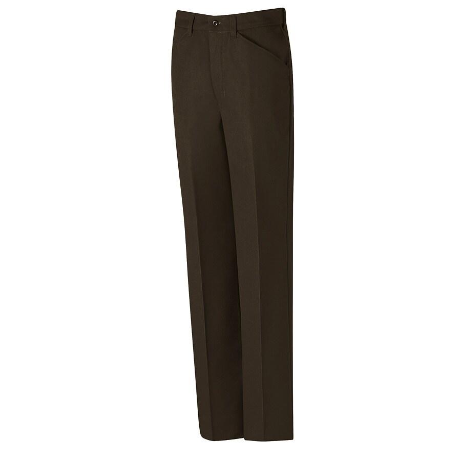 Red Kap Men's 28 x 34 Chocolate Brown Twill Work Pants