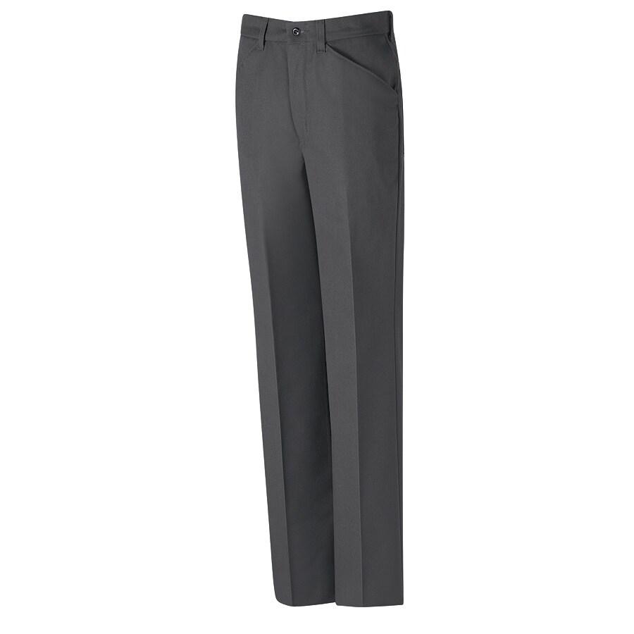 Red Kap Men's 42 x 32 Charcoal Twill Work Pants