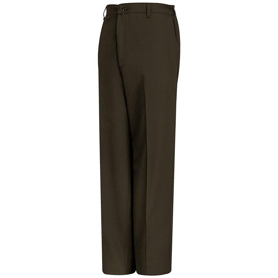 Red Kap Men's 46 x 32 Brown Twill Work Pants