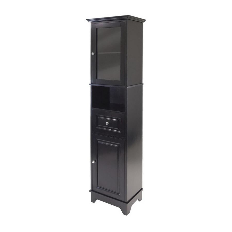 Shop Winsome Wood Alps Black 4Shelf Office Cabinet at