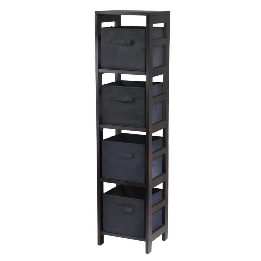 Winsome Wood Capri Espresso 4-Shelf Office Cabinet