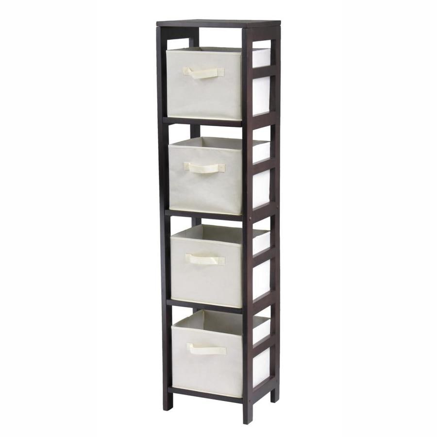 Winsome Wood Capri Espresso 4-Shelf Office Cabinet