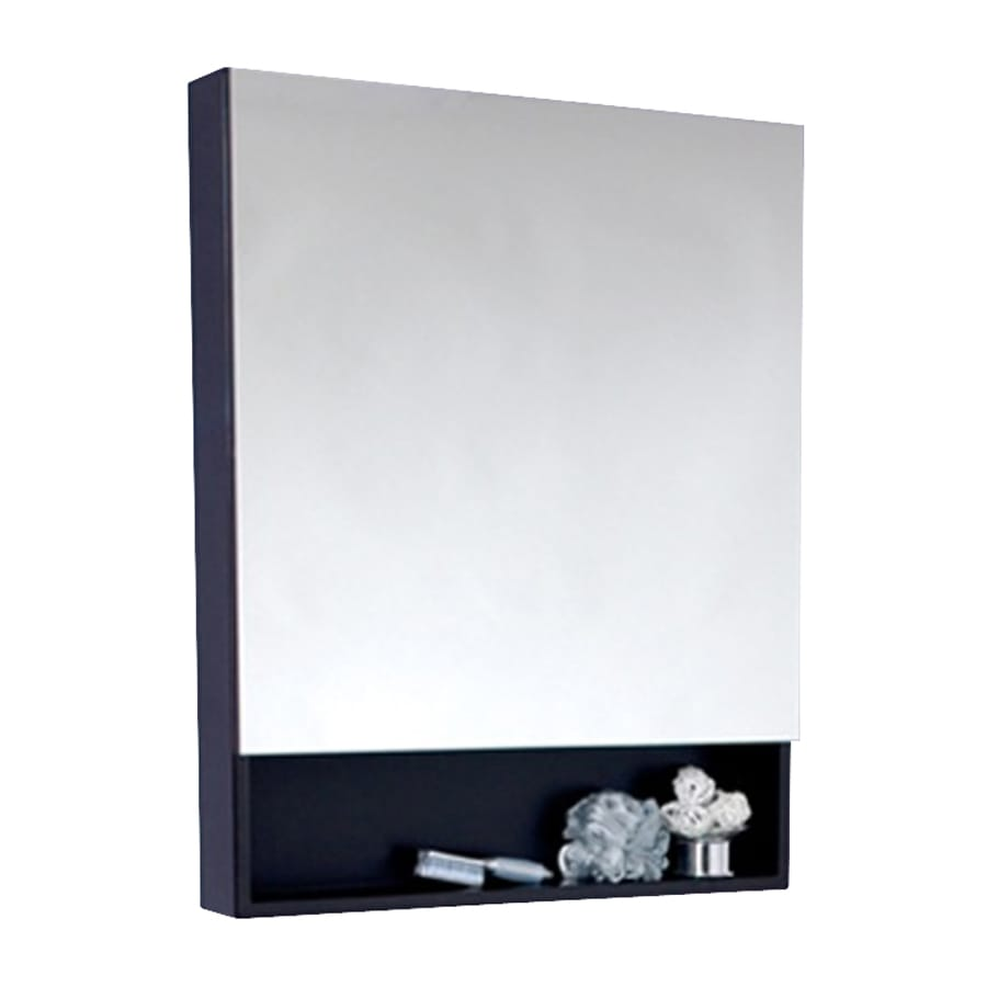 Fresca 23.63-in x 33.5-in Rectangle Surface Mirrored Wood Medicine Cabinet