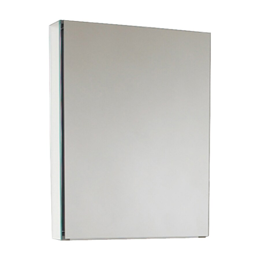 26 in rectangle surface recessed mirrored aluminum medicine cabinet