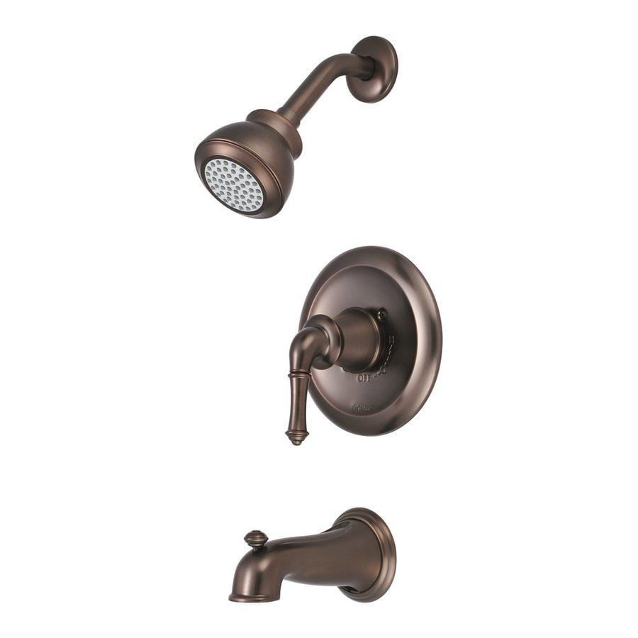 Pioneer Industries Del Mar Oil-Rubbed Bronze 1-Handle WaterSense Bathtub and Shower Faucet Trim Kit with Single Function Showerhead
