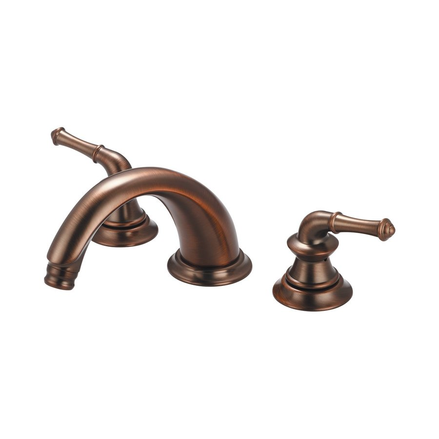Pioneer Industries Del Mar Oil-Rubbed Bronze 2-Handle Adjustable Deck Mount Tub Faucet