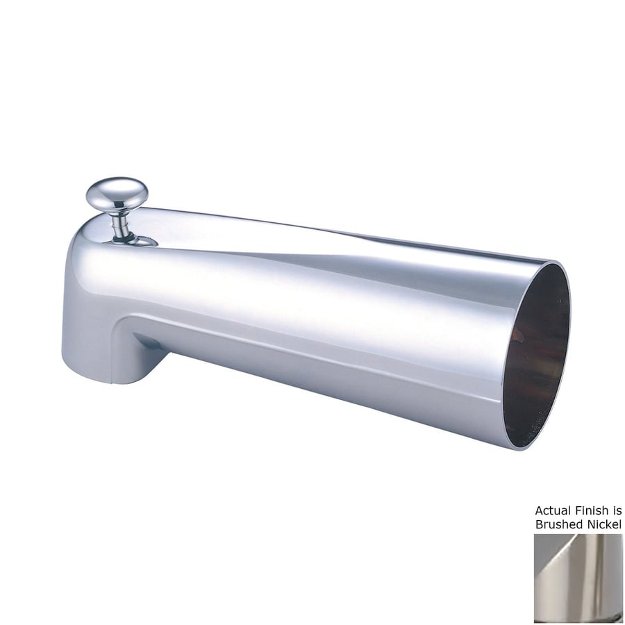 Pioneer Industries Nickel Tub Spout with Diverter