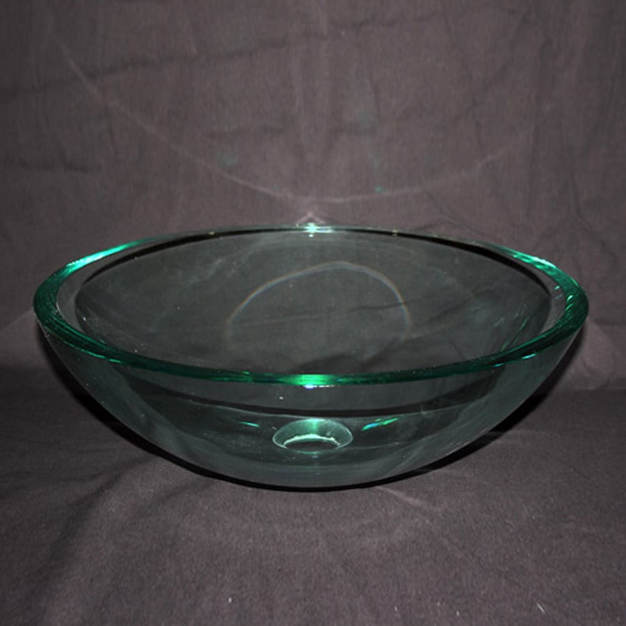 Legion Furniture Clear Glass Vessel Round Bathroom Sink