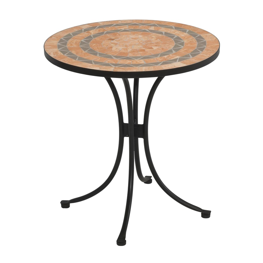 Home Styles Terra Cotta 27.5-in W x 27.5-in L Round Steel Bistro Table