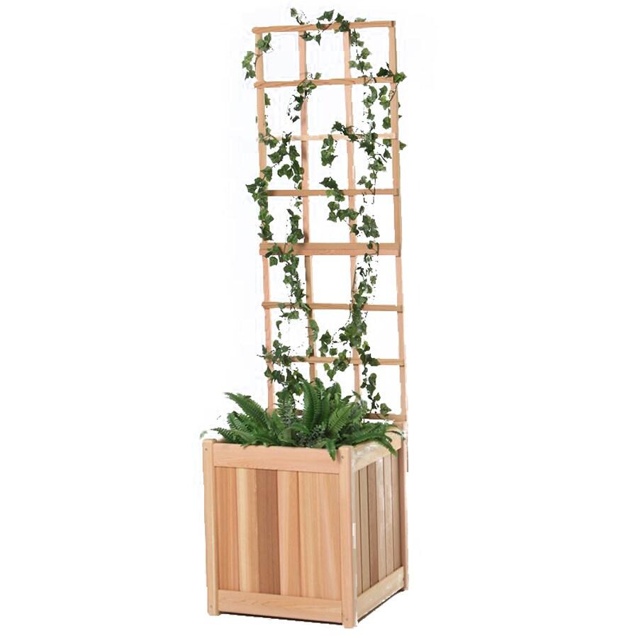 All Things Cedar 18-in W x 60-in H Sanded Panel Garden Trellis