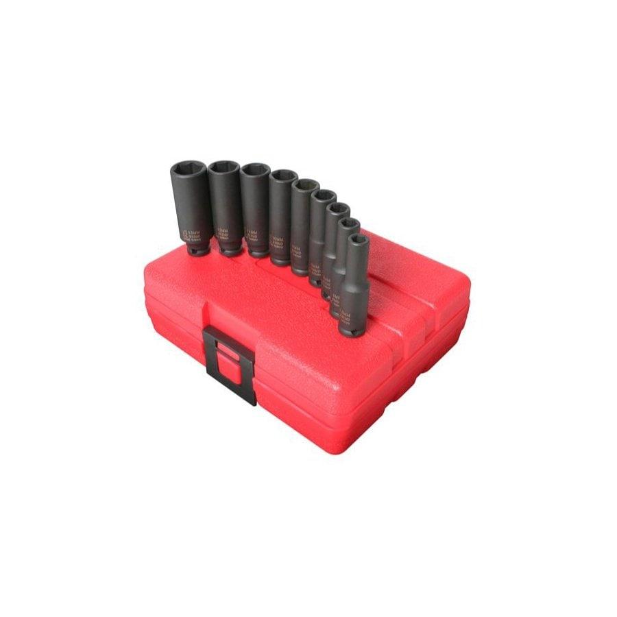 Sunex Tools 9-Piece 1/4-in Metric 6-Point Impact Socket Set
