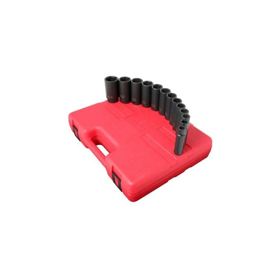 Sunex Tools 13-Piece 1/2-in Standard 6-Point Impact Socket Set