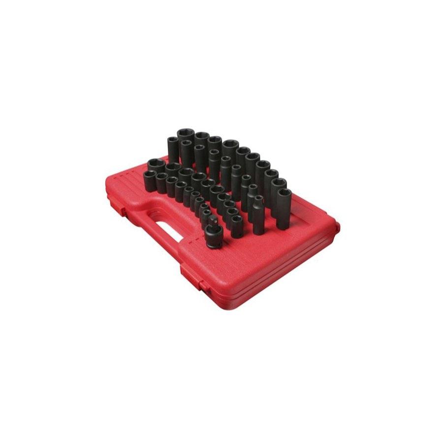 Sunex Tools 39-Piece 1/2-in Metric 6-Point Impact Socket Set