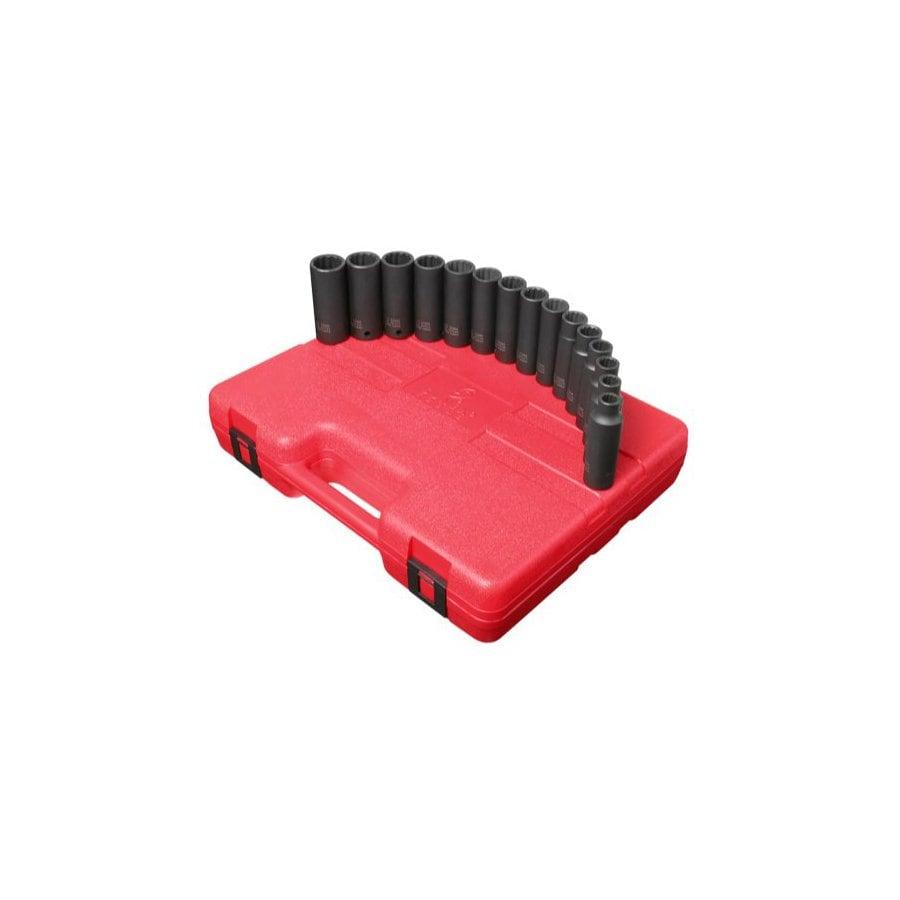 Sunex Tools 15-Piece 1/2-in Metric 12-Point Impact Socket Set