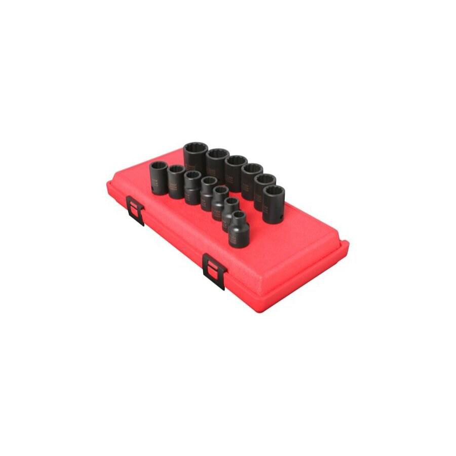 Sunex Tools 13-Piece 1/2-in Metric 12-Point Impact Socket Set