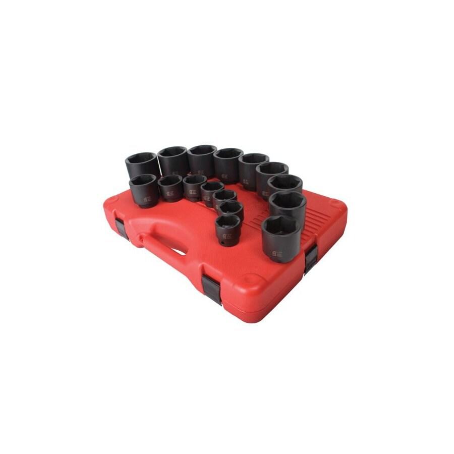 Sunex Tools 16-Piece 1/2-in Standard 6-Point Impact Socket Set