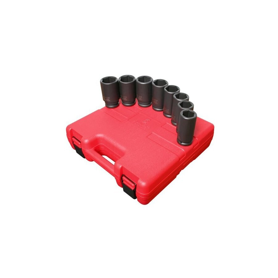 Sunex Tools 8-Piece 3/4-in Standard 6-Point Impact Socket Set