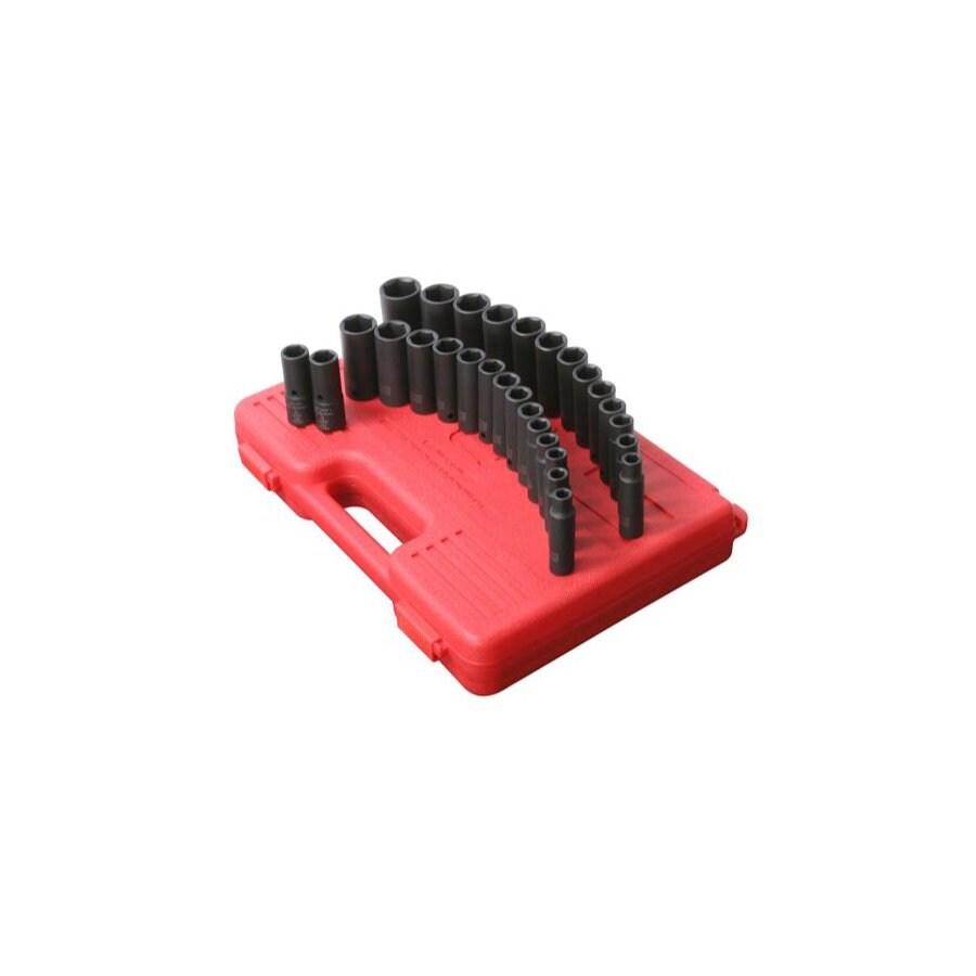 Sunex Tools 29-Piece 1/2-in Standard/Metric 6-Point Impact Socket Set