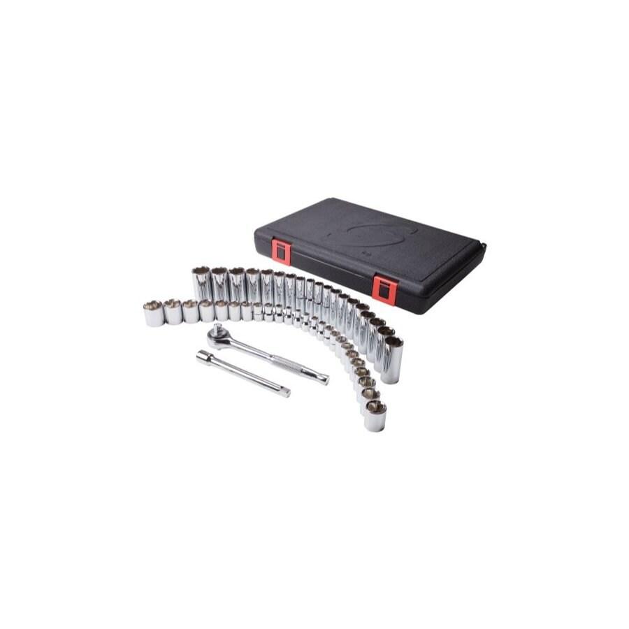 Sunex Tools 47-Piece 3/8-in Standard/Metric 6-Point Impact Socket Set