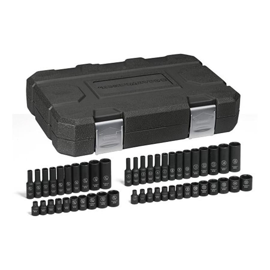 KD Tools 48-Piece 1/4-in Standard/Metric 6-Point Impact Socket Set