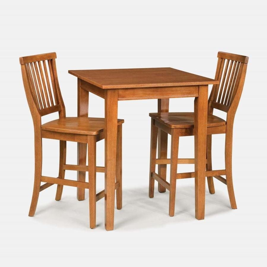 Home Styles Arts & Crafts Cottage Oak Dining Set with Square Counter Table