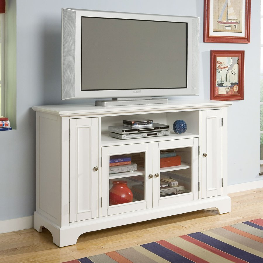 Home Styles Naples White Rectangular Television Cabinet